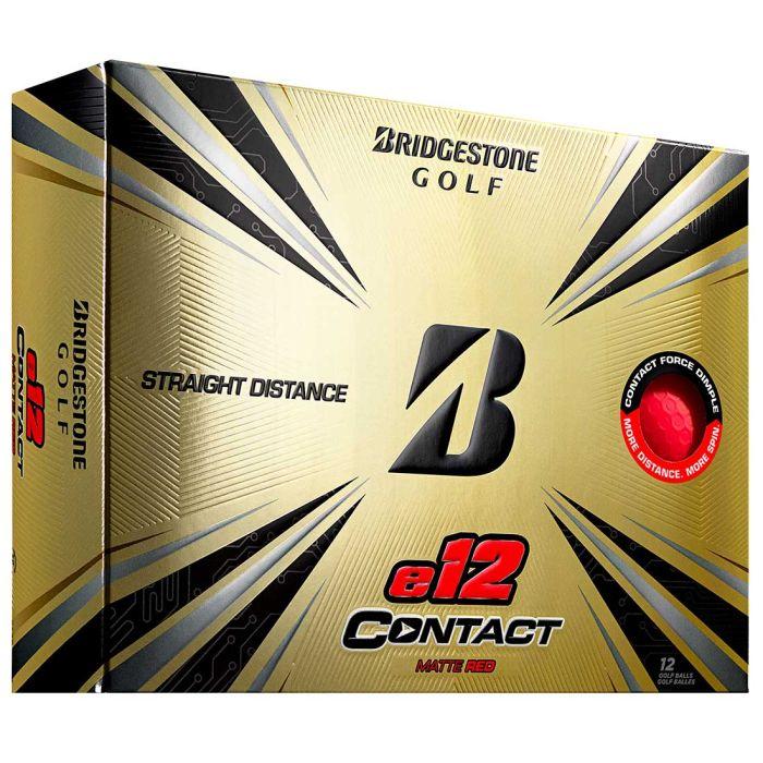 Bridgestone e12 Contact Matte Red Golf Balls