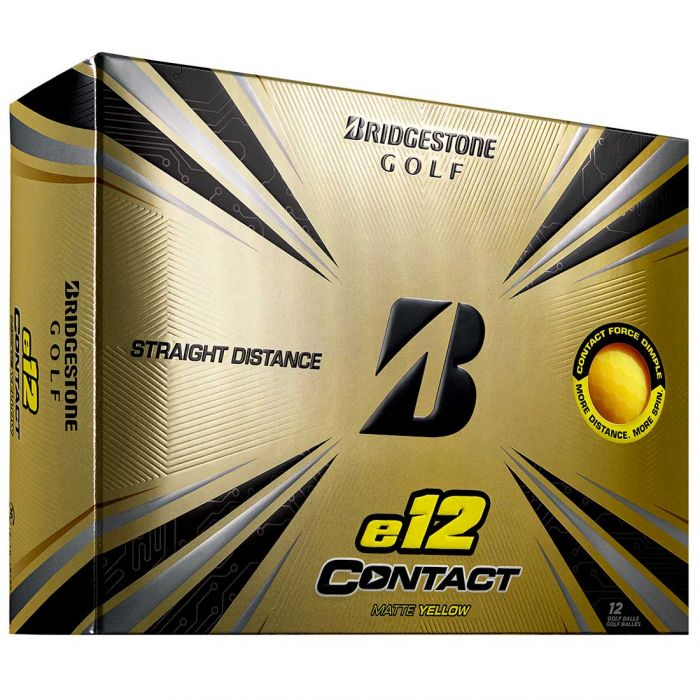 Bridgestone e12 Contact Matte Yellow Golf Balls