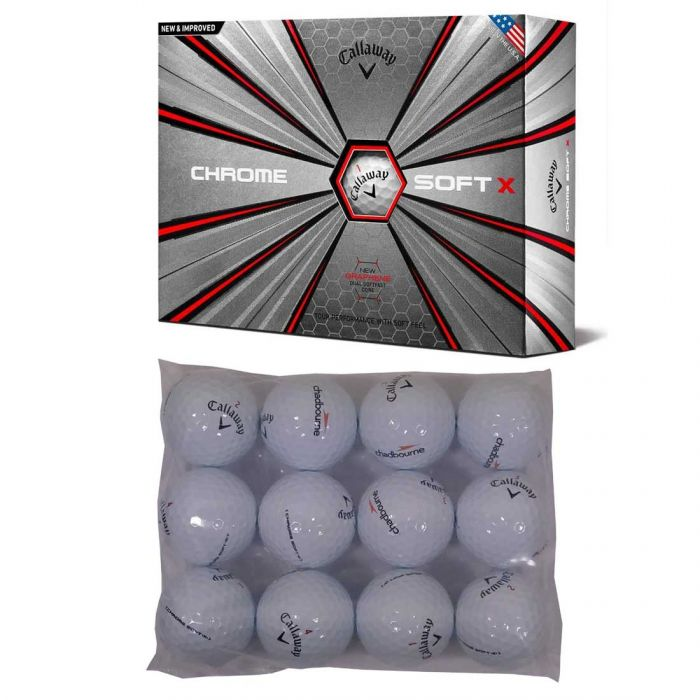 Callaway Chrome Soft X Logo Overrun Bagged Golf Balls