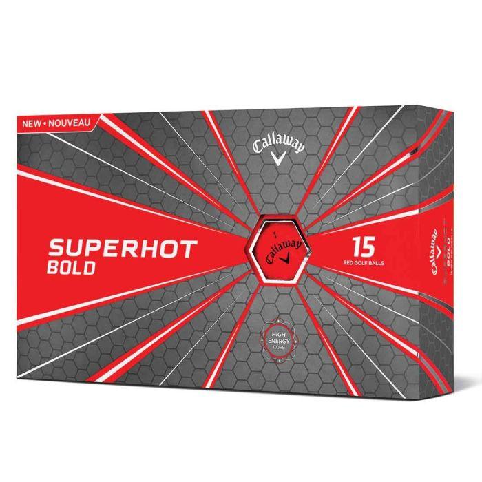 Callaway 2018 Superhot Bold Matte Red Golf Balls