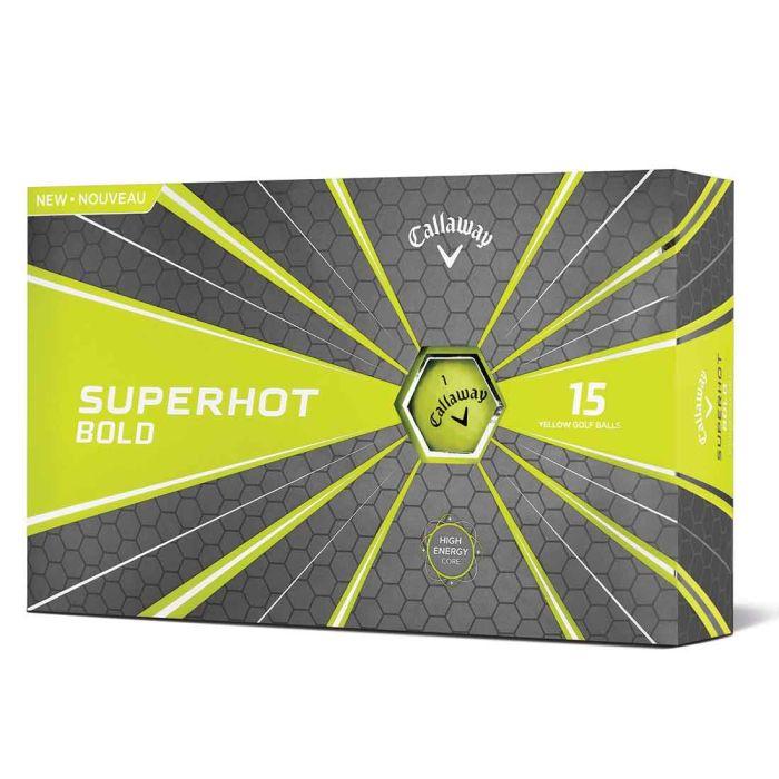 Callaway 2018 Superhot Bold Matte Yellow Golf Balls