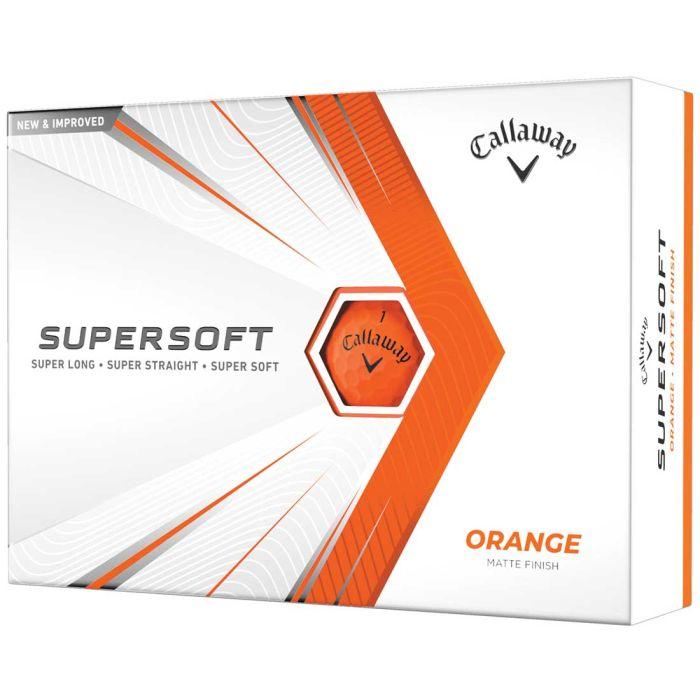 Callaway Supersoft Matte Orange Personalized Golf Balls