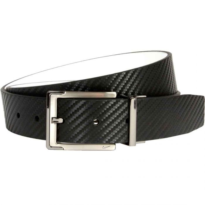 Nike Carbon Fiber Textured Reversible Leather Belt