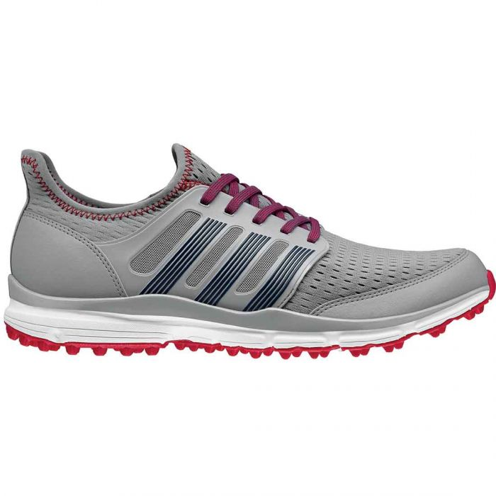 Adidas Climacool Golf Shoes Silver/Red
