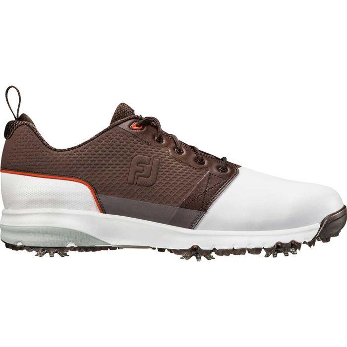 FootJoy Contour FIT Golf Shoes White/Brown