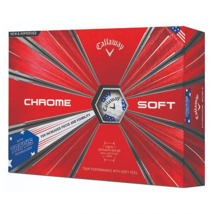 Callaway Prior Generation Chrome Soft Truvis Stars and Stripes Golf Balls