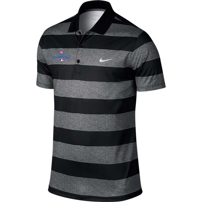 Nike Chicago Cubs 2016 World Series Champions Victory Bold Stripe Polo