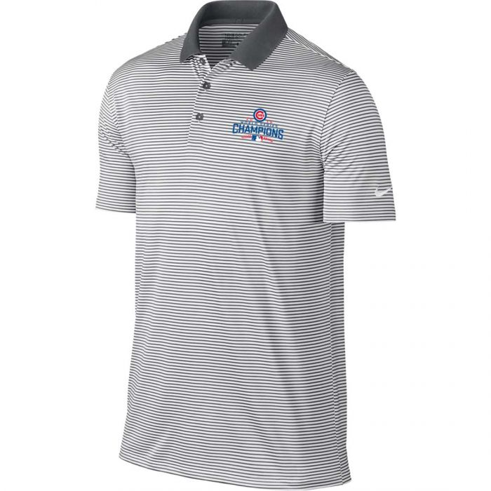 Nike Chicago Cubs 2016 World Series Champions Victory Mini Stripe Polo
