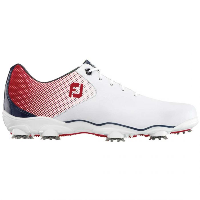 FootJoy D.N.A. Helix Golf Shoes White/Red/Blue