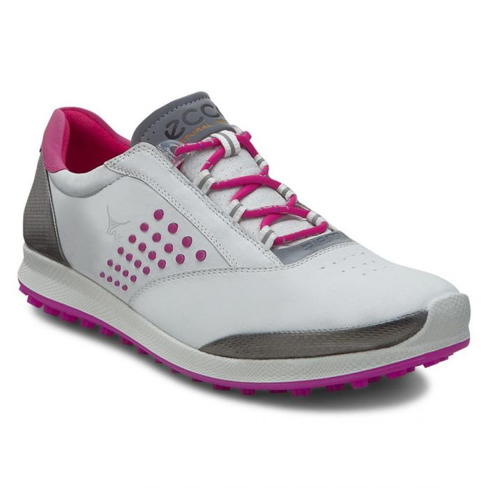 Ecco Women's BIOM Hybrid 2 Golf Shoes White/Candy