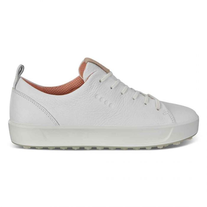 Ecco Women's Golf Soft Low Golf Shoes Bright White