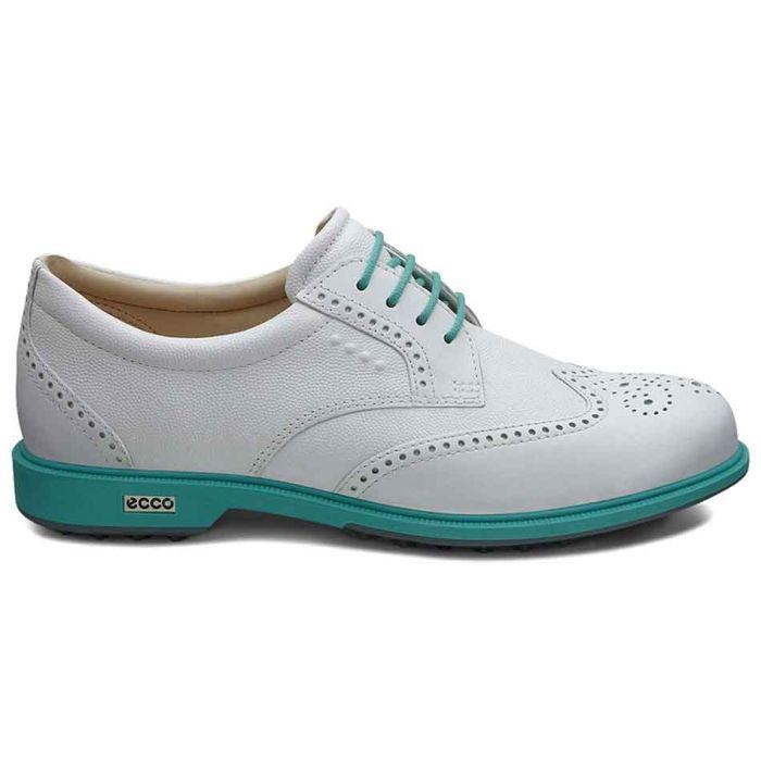 Ecco Women's Tour Hybrid Golf Shoes White/Turquoise