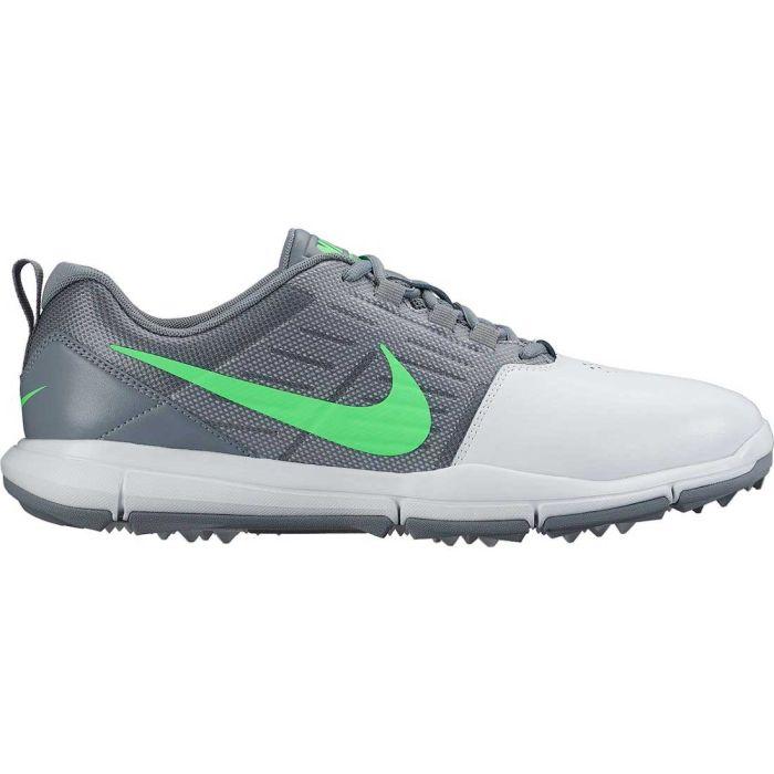 Nike Explorer SL Golf Shoes Platinum/Grey/Green