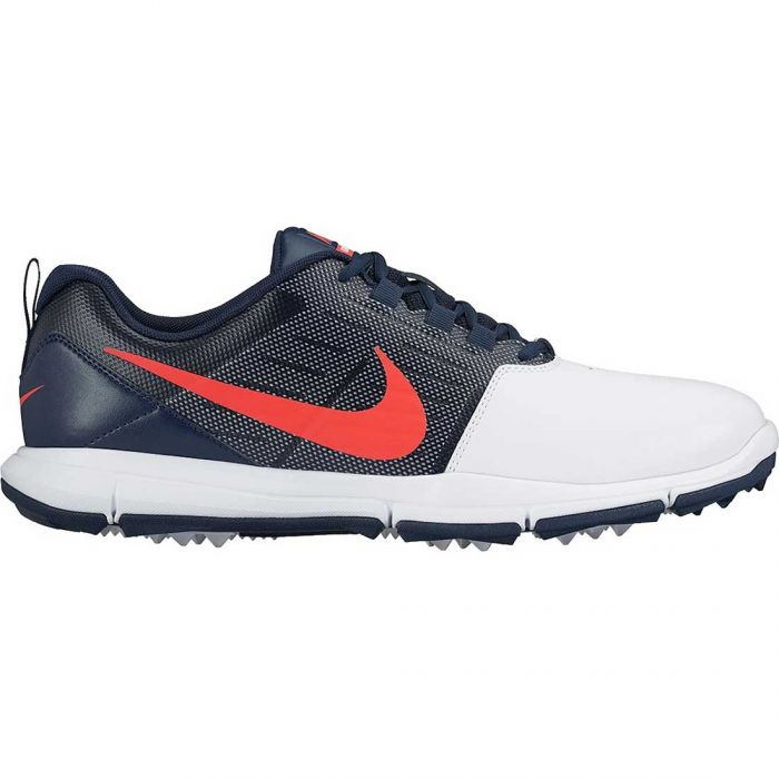 Nike Explorer SL Golf Shoes White/Obsidian/Bright Crimson
