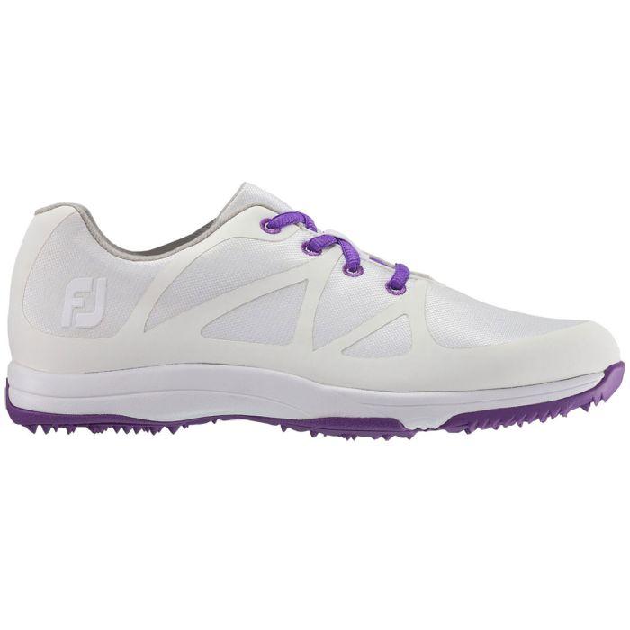FootJoy Women's FJ Leisure Golf Shoes White/Purple