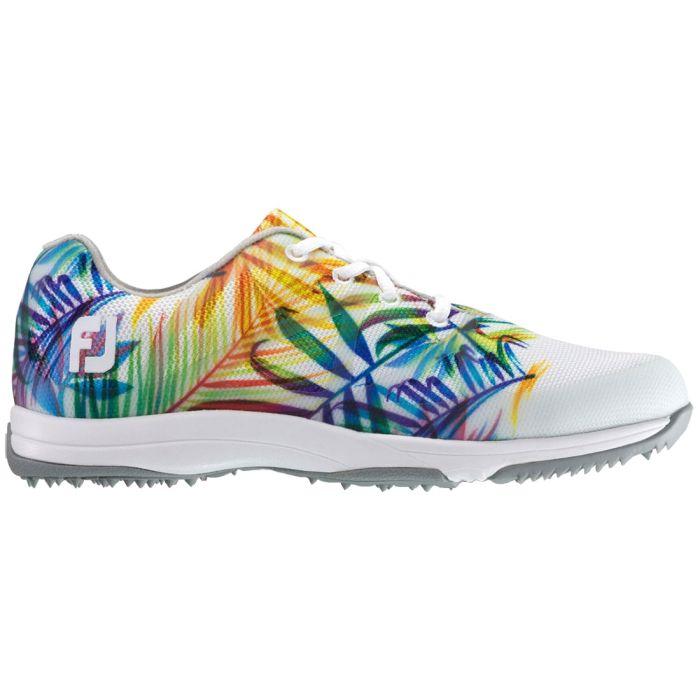 FootJoy Women's FJ Leisure Golf Shoes White/Tropical