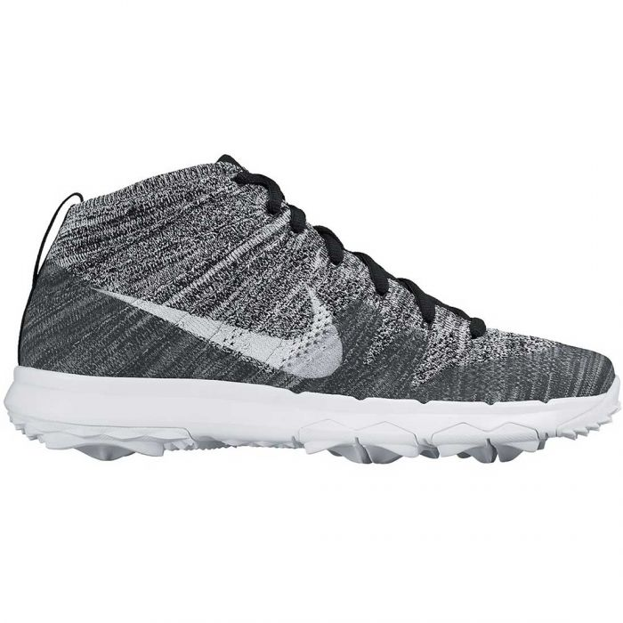 Nike Flyknit Chukka Golf Shoes Black/White