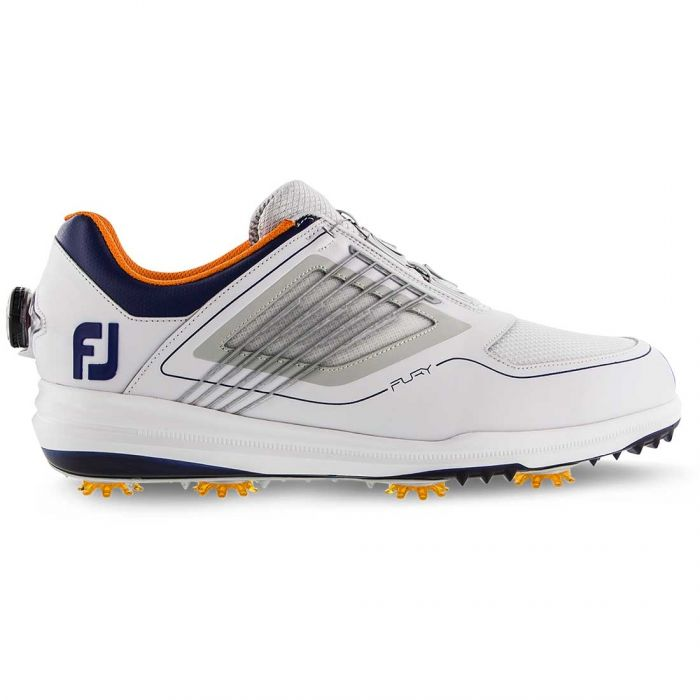 FootJoy FJ Fury BOA Golf Shoes White/Navy/Orange