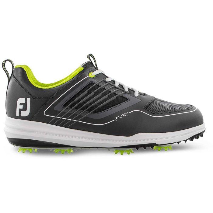 FootJoy FJ Fury Golf Shoes Charcoal/Lime