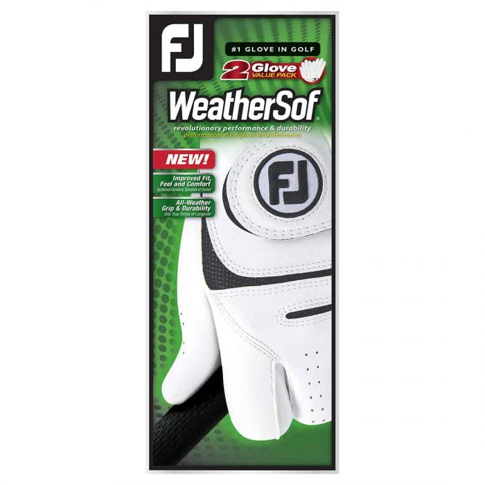 FootJoy WeatherSof Golf Gloves - 2 Pack