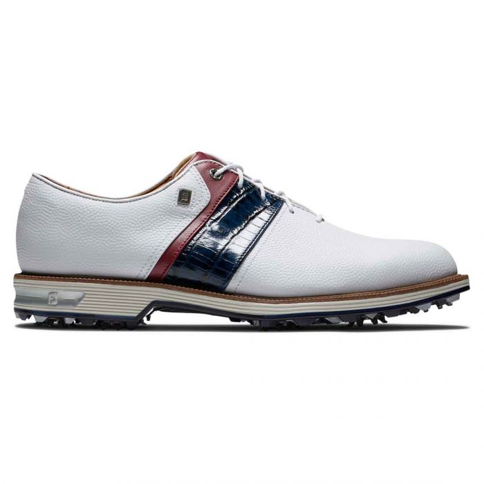 FootJoy Premiere Series Packard Golf Shoes White/Navy/Red