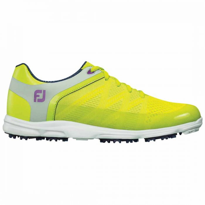 FootJoy Women's Sport SL Golf Shoes Lime/Light Grey