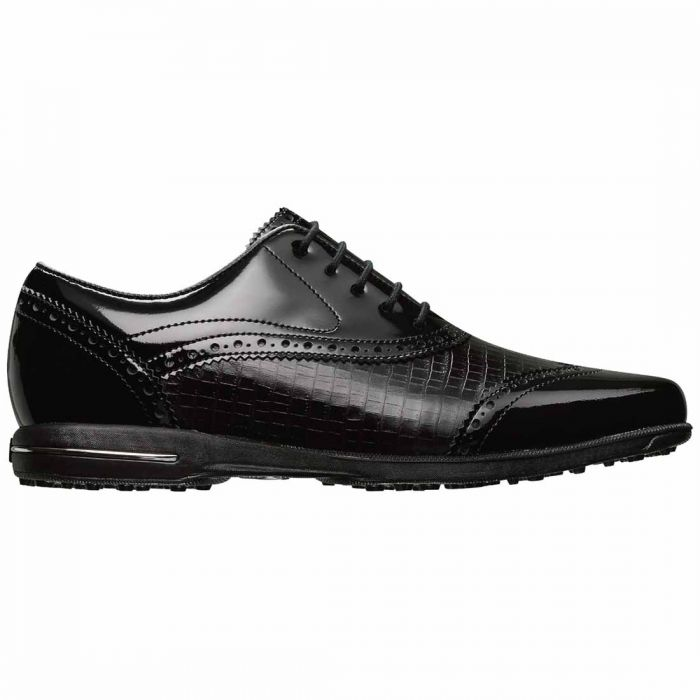 FootJoy Women's Tailored Collection Golf Shoes Black/Black Croc