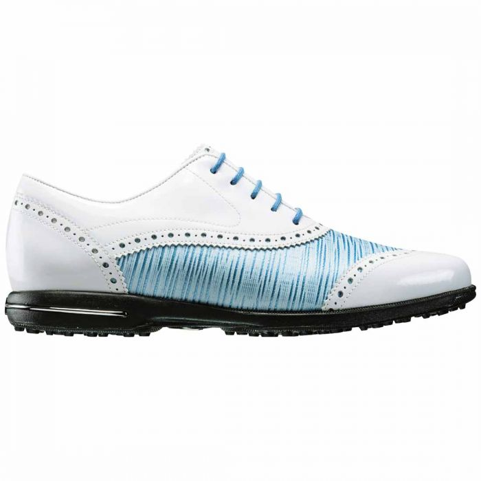 FootJoy Women's Tailored Collection Golf Shoes White/Ocean Blue
