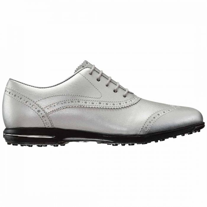 FootJoy Women's Tailored Collection Golf Shoes Metallic Silver