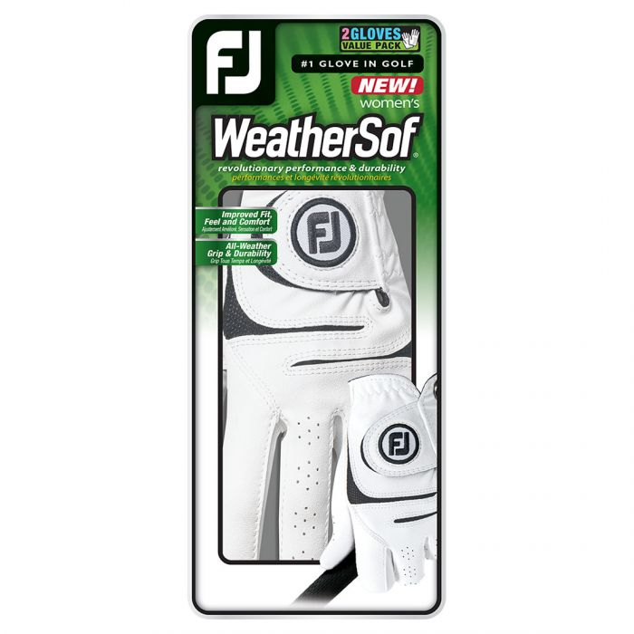 FootJoy Women's WeatherSof Golf Gloves - 2 Pack