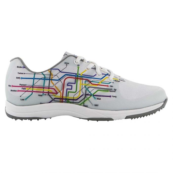FootJoy Women's FJ Leisure Golf Shoes White/Subway Print