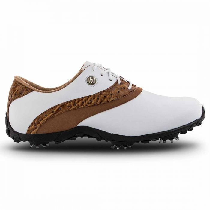 FootJoy Women's LoPro Golf Shoes White/Tan