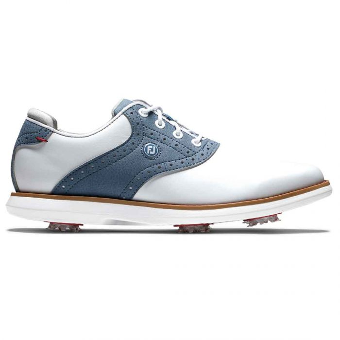 FootJoy Women's Traditions Golf Shoes White/Blue