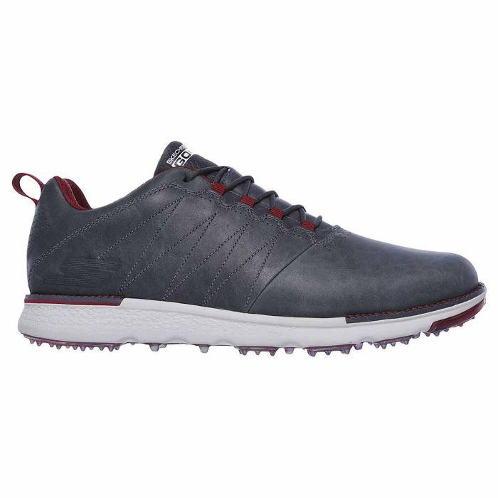 Skechers GO GOLF Elite V.3-LX Golf Shoes Charcoal/Red