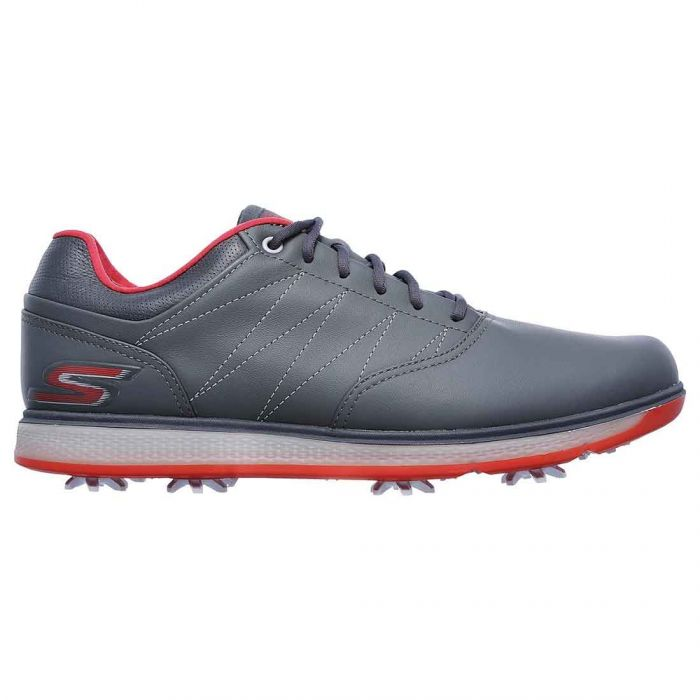 Skechers GO GOLF Pro V.3 Golf Shoes Charcoal/Red