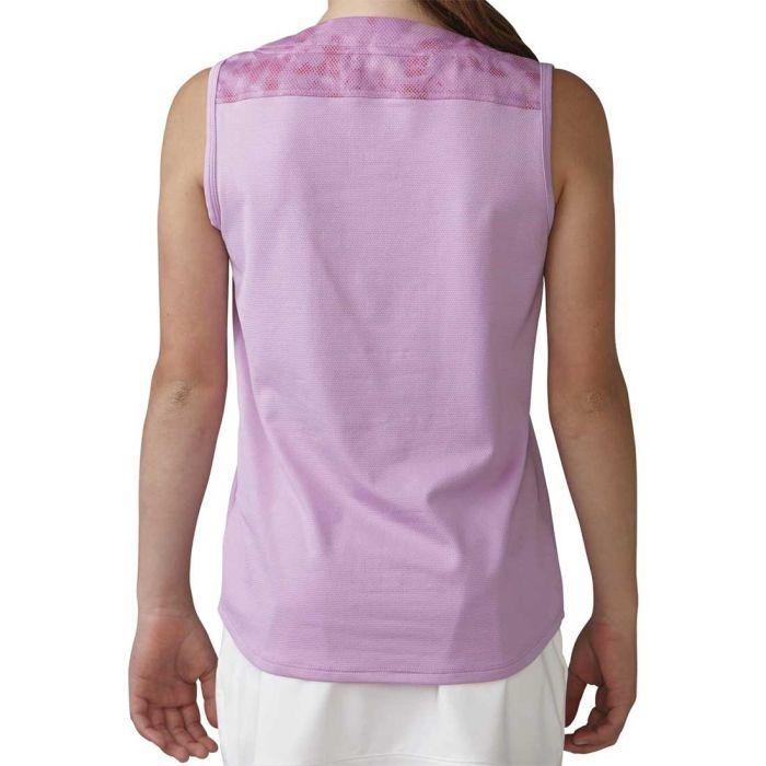 Adidas Girls Essential Mixed Print Sleeveless Polo