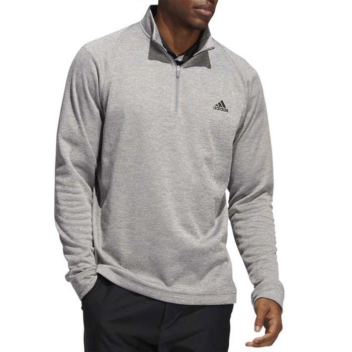 Adidas Novelty Heather Quarter-Zip Pullover