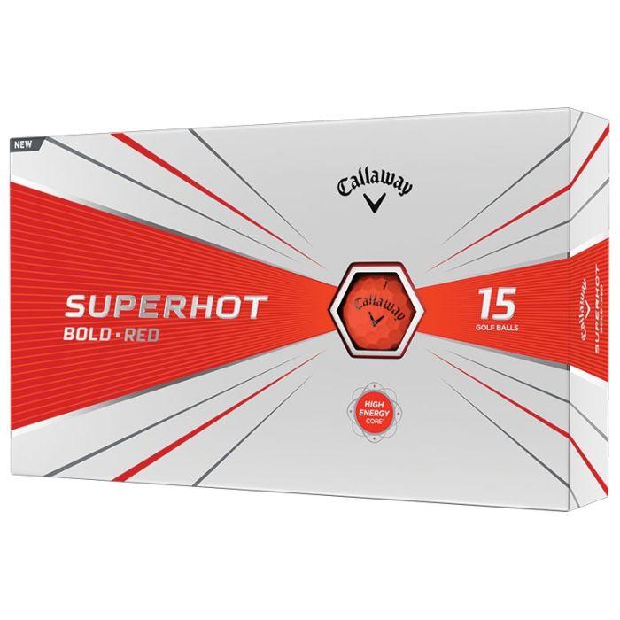 Callaway Superhot Bold Matte Red 15-Pack Golf Balls
