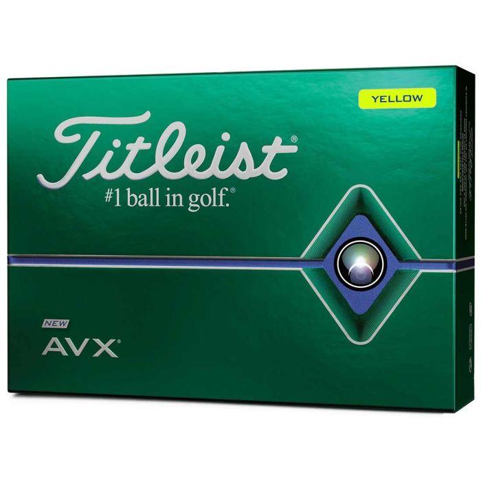 Titleist AVX Yellow Golf Balls