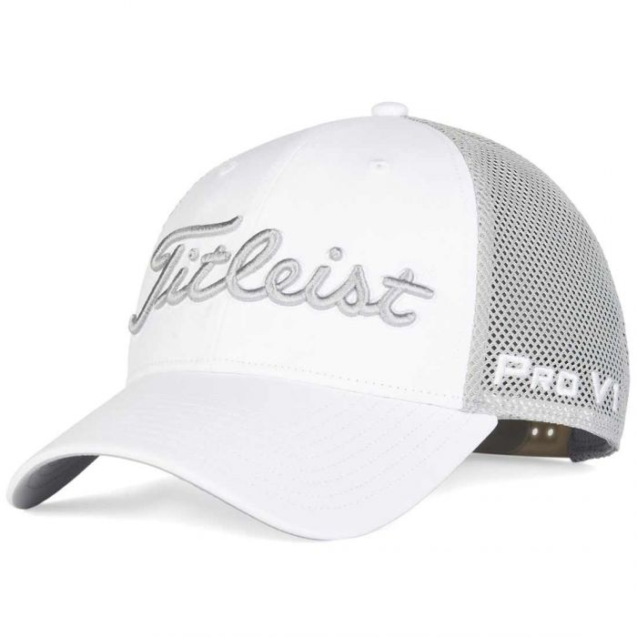 Titleist Tour Performance Mesh White Hat