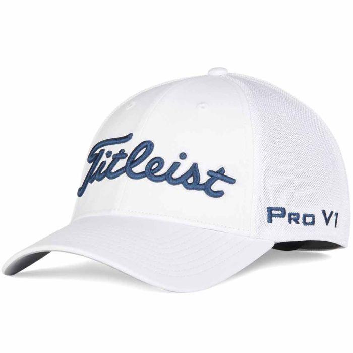 Titleist Tour Sports Mesh White Hat