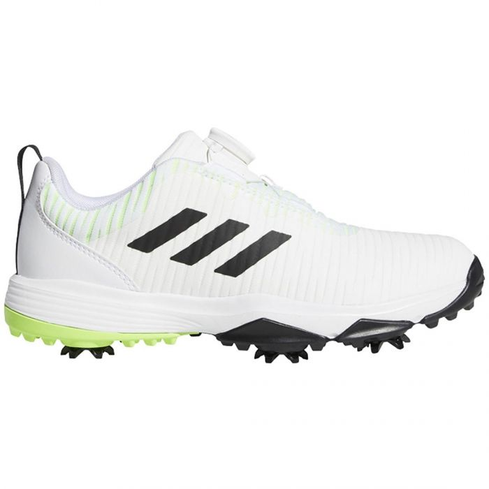 Adidas Juniors Codechaos BOA Golf Shoes White/Black/Green