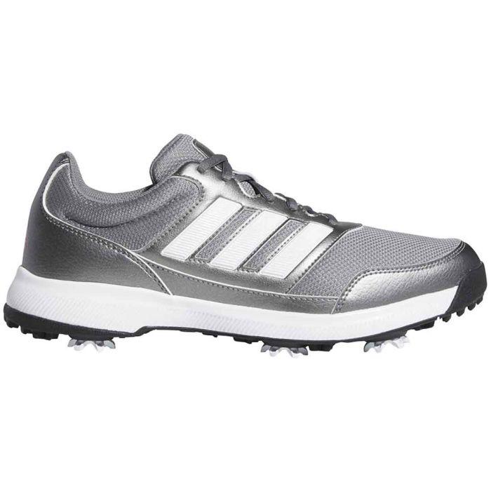 Adidas Tech Response 2.0 Golf Shoes Iron Metallic/White