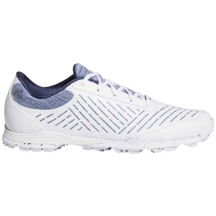 Adidas Women's Adipure Sport 2.0 Golf Shoes White/Silver/Blue