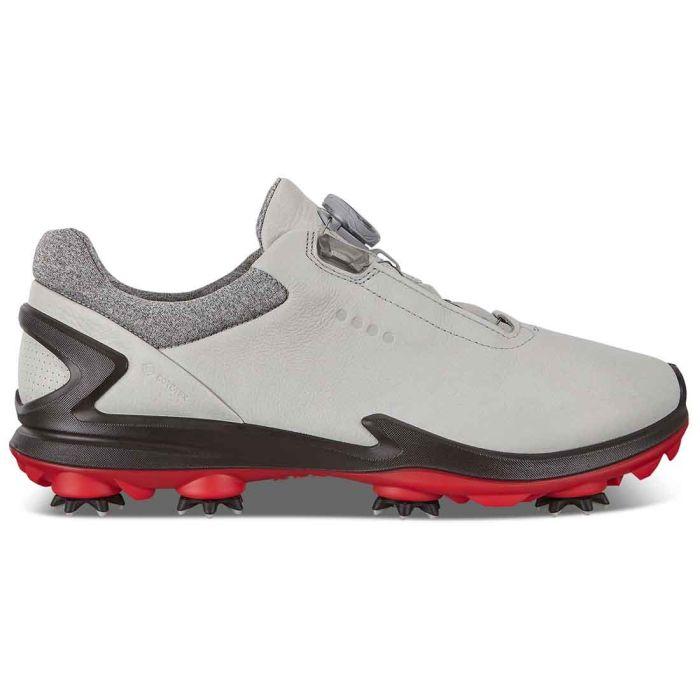 Ecco Biom G 3 Boa Golf Shoes Grey/Red