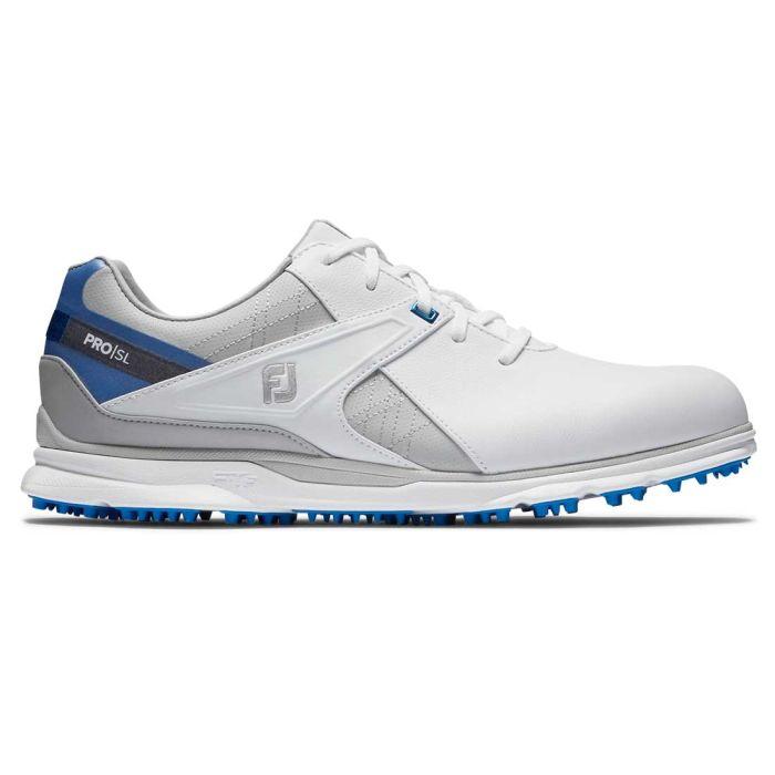 FootJoy Pro/SL Golf Shoes White/Blue/Grey