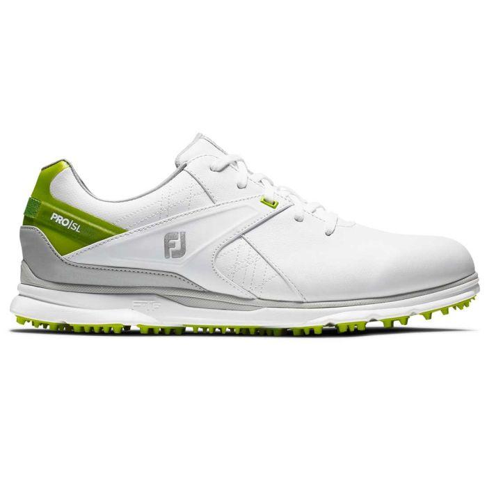 FootJoy Pro/SL Golf Shoes White/Lime