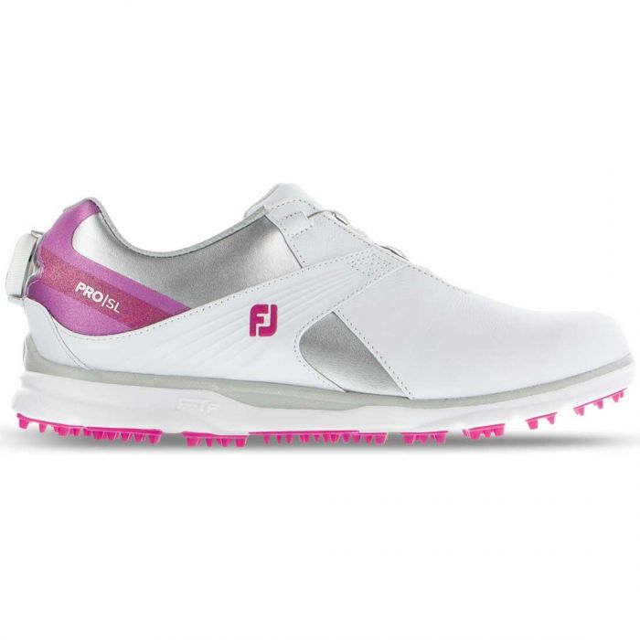 FootJoy Women's Pro/SL BOA Golf Shoes White/Pink