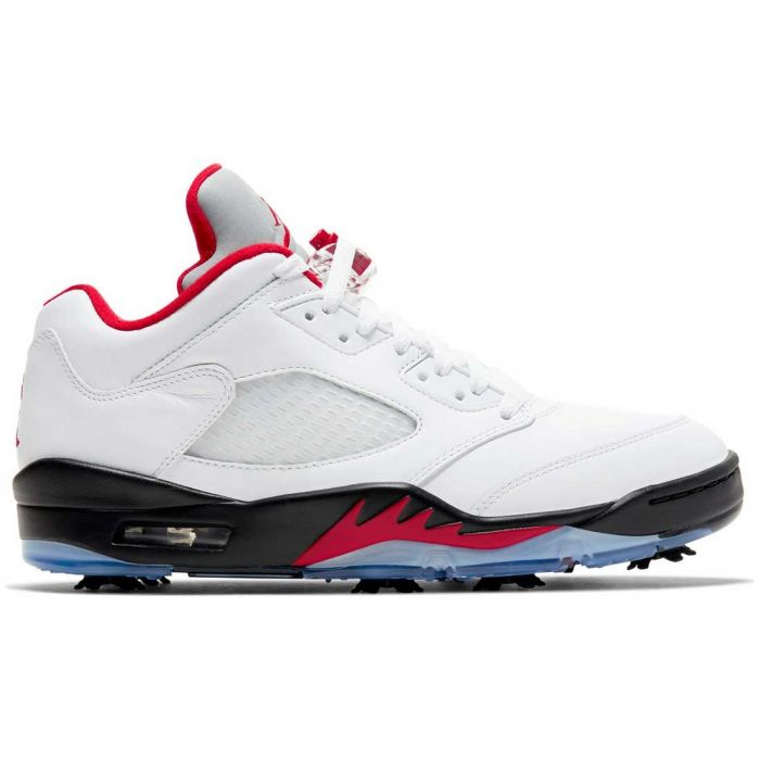 Nike Air Jordan V Low Golf Shoes White/Fire Red