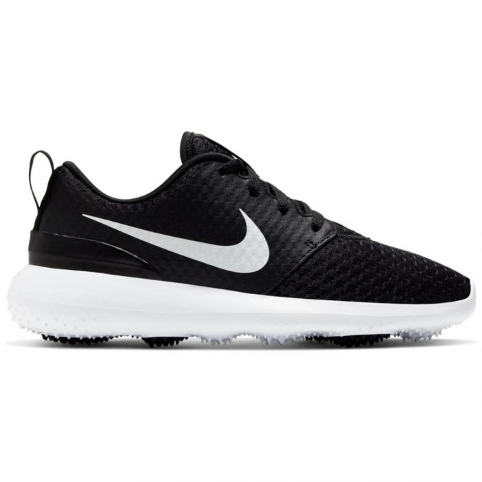 Nike Juniors Roshe G Golf Shoes Black/Metallic White